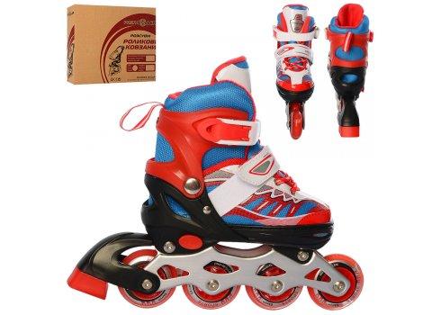 Детские раздвижные ролики размер 31-34 Profi A4122-S-R красный
