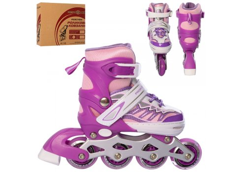 Детские раздвижные ролики размер 31-34 Profi A4122-S-V фиолетовый