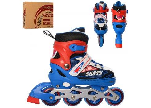 Детские раздвижные ролики размер 35-38 Profi A4123-M-BL синий