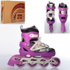 Детские раздвижные ролики размер 35-38 Profi A4123-M-V фиолет