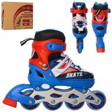 Детские раздвижные ролики размер 31-34 Profi A4123-S-BL синий