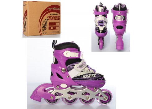 Детские раздвижные ролики размер 31-34 Profi A4123-S-V фиолет