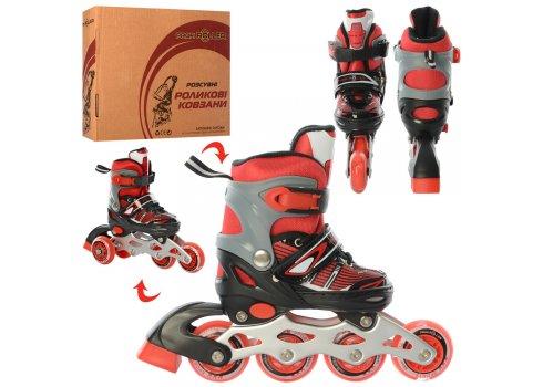 Детские раздвижные роликовые коньки размер 27-30 PROFI A4139-XS-R красный