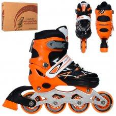 Детские раздвижные роликовые коньки размер 31-34 PROFI A4142-S-OR оранжевый
