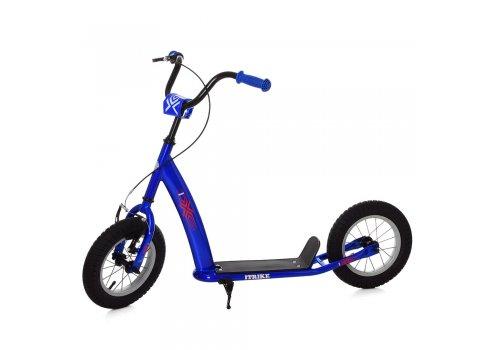Самокат подростковый на надувных колесах 12 дюймов iTrike SR 2-047-BBL синий