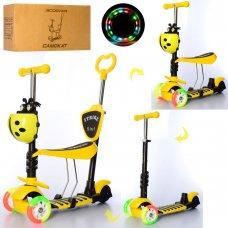 Детский самокат-беговел 5-в-1 ITRIKE MAXI JR 3-026-CY желтый