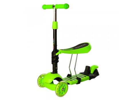 Детский самокат 5в1 iTrike maxi JR 3-026-G зеленый