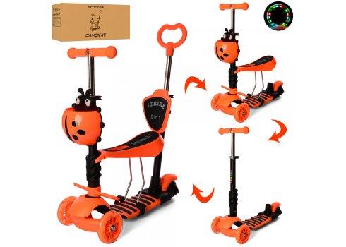 Детский самокат-беговел 5-в-1 ITRIKE MAXI JR 3-026-OR оранжевый