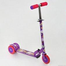 Самокат трехколесный металлический, 466-363 София Прекрасная фиолетовый