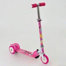 Самокат трехколесный металлический, 466-363 My Little Pony розовый