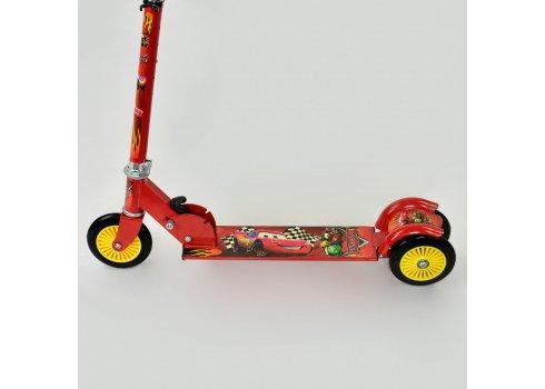 Самокат трехколесный металлический, 466-363 Cars красный