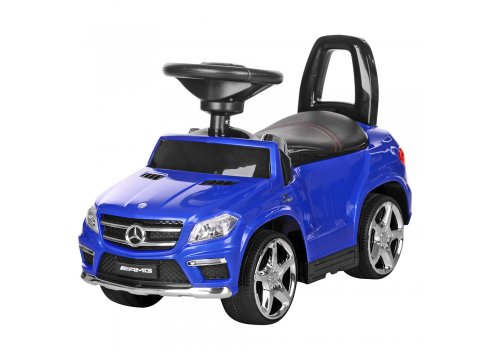 Лицензионная каталка-толокар Mercedes Benz GL63 AMG 3в1 на аккумуляторе M 3186L-4 синий