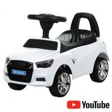 Толокар-каталка Audi на колесах с резиновым покрытием, Bambi M 3147A-1 белая
