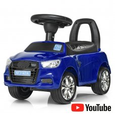 Толокар-каталка Audi на колесах с резиновым покрытием Bambi M 3147A(MP3)-4 синий