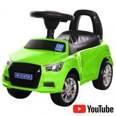 Толокар-каталка Audi на колесах с резиновым покрытием, Bambi M 3147A-5 зеленый