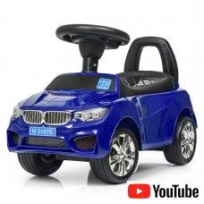 Толокар-каталка BMW на колесах с резиновым покрытием, Bambi M 3147B-4 синий