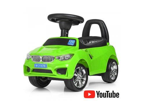 Толокар-каталка BMW на колесах с резиновым покрытием, Bambi M 3147B-5 зеленый