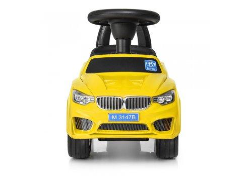 Толокар-каталка BMW на колесах с резиновым покрытием, Bambi M 3147B-6 желтая