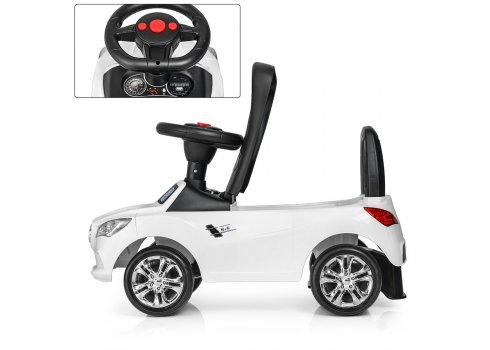 Толокар-каталка Mercedes на колесах с резиновым покрытием, Bambi M 3147C(MP3)-1 белый
