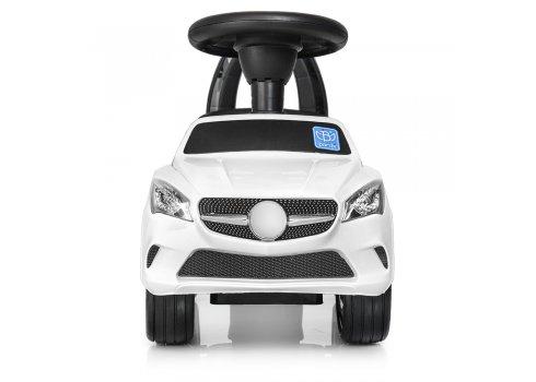 Толокар-каталка  Mercedes на колесах с резиновым покрытием, Bambi M 3147C-1 белый