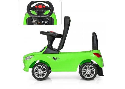 Толокар-каталка Mercedes на колесах с резиновым покрытием Bambi M 3147C(MP3)-5 зеленый