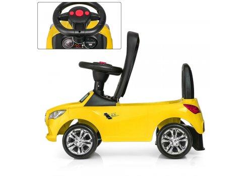 Толокар-каталка Mercedes на колесах с резиновым покрытием Bambi M 3147C(MP3)-6 желтый