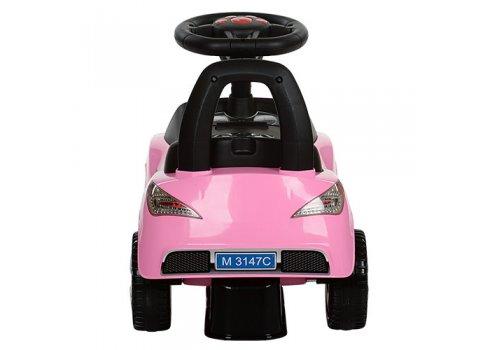 Толокар-каталка  Mercedes на колесах с резиновым покрытием, Bambi M 3147C-8 розовая