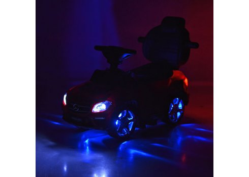 Лицензионная каталка-толокар Mercedes Benz GL63 AMG 3в1 на аккумуляторе M 3186L-3  красный