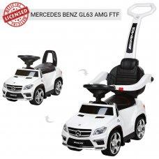Лицензионная каталка-толокар Mercedes Benz GL63 AMG 3в1 на аккумуляторе M 3186L-1 белый