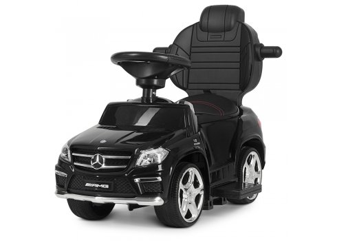 Лицензионная каталка-толокар Mercedes Benz GL63 AMG 3в1 на аккумуляторе M 3186L-2 черный