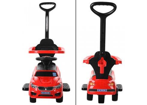 Каталка-толокар BMW 2в1 с родительской ручкой Bambi M 3503B-3 красный