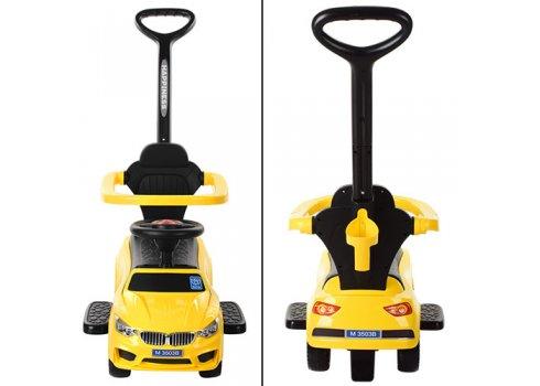 Каталка-толокар BMW 2в1 с родительской ручкой Bambi M 3503B-6 желтый