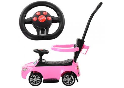 Каталка-толокар BMW 2в1 с родительской ручкой Bambi M 3503B-8 розовый