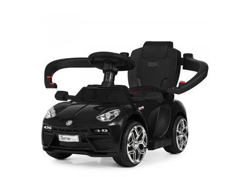 Электромобиль-толокар с кожаным сиденьем, Bambi M 3591L-2 черный