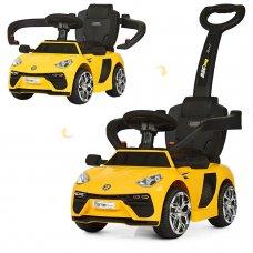 Электромобиль-толокар с кожаным сиденьем, Bambi M 3591L-6 желтый