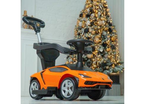 Каталка-толокар с родительской ручкой Lamborghini Bambi 3726-7 Оранжевый