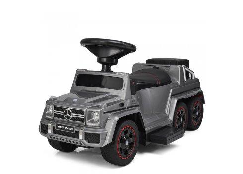 Двухместный электромобиль-толокар Mercedes 2в1 на резиновых колесах M 3853EL-11 серый