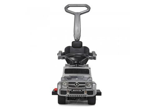 Двухместный электромобиль-толокар Mercedes 2в1 на резиновых колесах, M 3853 EL-11 серый