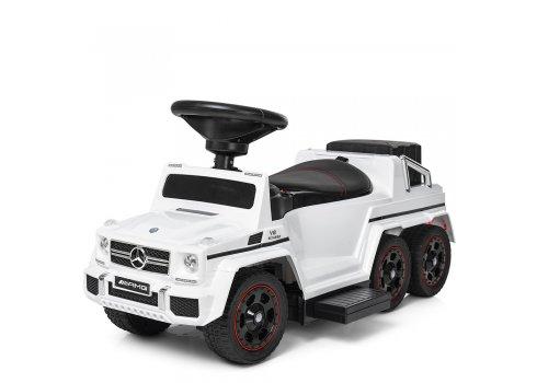 Двухместный электромобиль-толокар Mercedes 2в1 на резиновых колесах M 3853EL-1 белый
