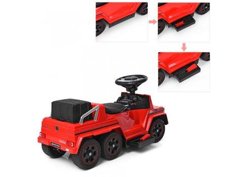 Двухместный электромобиль-толокар Mercedes 2в1 на резиновых колесах M 3853EL-3 красный