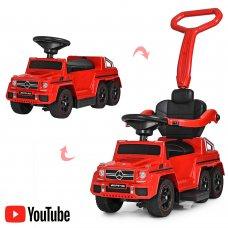 Двухместный электромобиль-толокар Mercedes 2в1 на резиновых колесах, M 3853 EL-3 красный