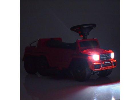 Двухместный электромобиль-толокар Mercedes 2в1 на резиновых колесах, M 3853 EL-8 розовый