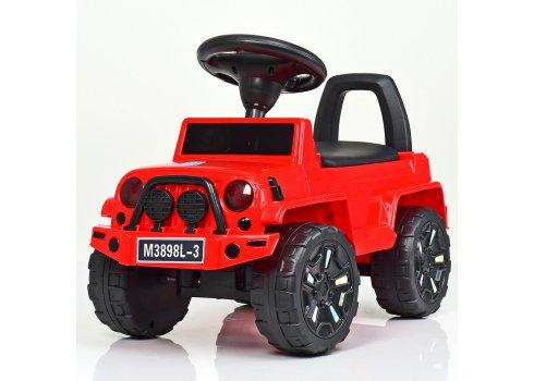 Толокар детский с кожаным сиденьем, M 3898L-3 красный