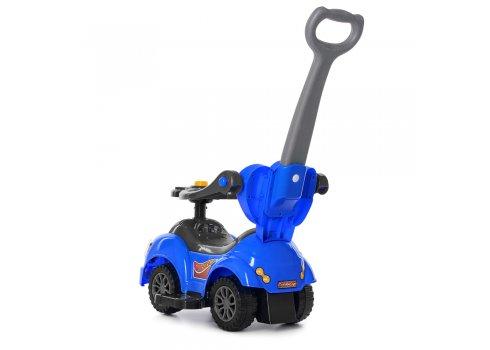 Каталка-толокар с родительской ручкой Bambi M 4072-4 синий