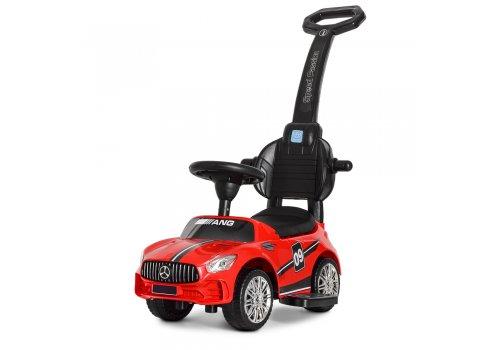 Детский толокар Mercedes (Мерседес) с родительской ручкой M 4074L-3 красный