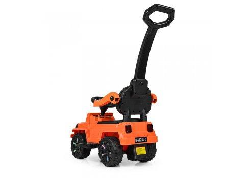 Детская каталка-толокар с родительской ручкой M 4128L-7 оранжевый
