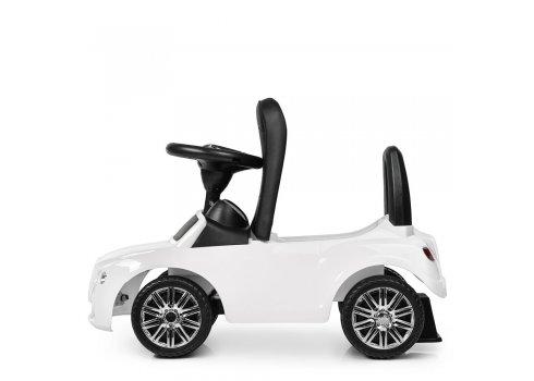 Детская каталка-толокар Bentley с кожаным сиденьем M 4130L-1 белый