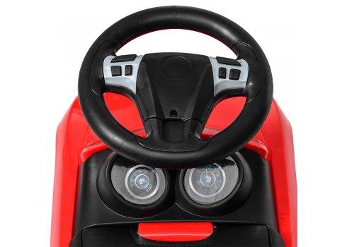 Детская каталка-толокар с кожаным сиденьем M 4322L-3 красный