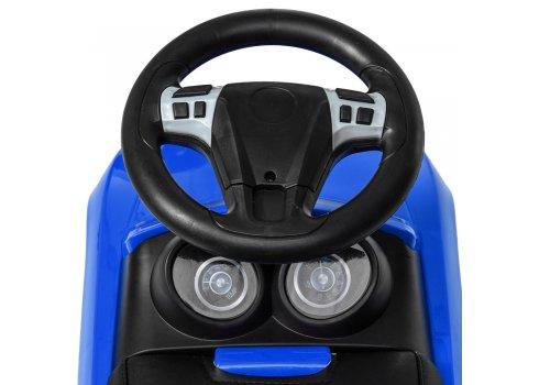Детская каталка-толокар с кожаным сиденьем M 4322L-4 синий