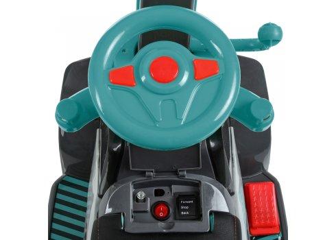Детский электромобиль-толокар Экскаватор Bambi M 4141L-4 бирюза